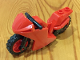 Part No: 18895c03  Name: Motorcycle Sport Bike with Red Wheels and Black Handlebars