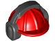 Part No: 18899pb01  Name: Minifigure, Headgear Helmet Construction with Black Ear Protector / Headphones Pattern
