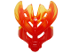 Part No: 19149pb04  Name: Bionicle Mask Protector with Marbled Trans-Yellow Pattern (Protector Mask of Fire)