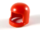 Part No: 193b1  Name: Minifigure, Headgear Helmet Old with Thick Chin Strap - without Visor Dimples