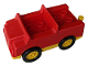 Part No: 2218c01  Name: Duplo Car with 2 x 2 Studs and Yellow Base