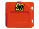 Part No: 2230pb01c01  Name: Duplo Door / Window Mailbox Raised with Train Ticket Pattern with Flap - Complete Assembly