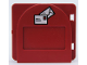 Part No: 2230pb02c01  Name: Duplo Door / Window Mailbox Raised with Envelopes Pattern with Flap - Complete Assembly