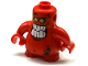 Part No: 22472c01pb01  Name: Body, Nexo Knights Scurrier with Red Arms with Bright Light Orange Eyes and Open Smile with 10 Flat White Teeth Pattern