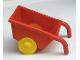 Part No: 2292c01  Name: Duplo Wheelbarrow with Yellow Wheels