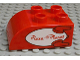 Part No: 2302pb02  Name: Duplo, Brick 2 x 3 with Curved Top and Pizza Planet Logo Pattern