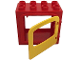 Part No: 2332c01  Name: Duplo Door Frame with Raised Door Outline with Yellow Window (2332/4247) - Complete Assembly