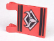 Part No: 2335px3  Name: Flag 2 x 2 Square with Silver Bull's Head Pattern