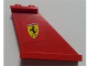 Part No: 2340pb046R  Name: Tail 4 x 1 x 3 with Ferrari Logo Pattern on Right Side (Sticker) - Set 8654