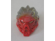Part No: 24148pb01  Name: Bionicle Mask of Fire (Unity) with Marbled Flat Silver Pattern
