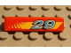 Part No: 2431pb039  Name: Tile 1 x 4 with '29' and Yellow Stripe (Dot Fade on Left) Pattern (Sticker) - Set 8829