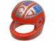 Part No: 2446pb07  Name: Minifigure, Headgear Helmet Standard with Blue and Silver Spyrius Pattern