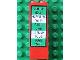 Part No: 2454pb017  Name: Brick 1 x 2 x 5 with Zurich - Hamburg - Paris - London - Rome Train Schedule Pattern (Sticker) - Set 4556