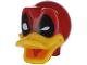 Part No: 24633pb03  Name: Minifigure, Head Modified Deadpool Duck Pattern
