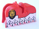 Part No: 2490pb03  Name: Horse Barding, Ruffled Edge with Lion Head (Royal Knights) Pattern