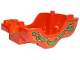 Part No: 25026pb02  Name: Duplo Horse Carriage Base with Green Ribbon Pattern