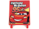 Part No: 2525pb011  Name: Flag 6 x 4 with 'Lightning McQueen 95' and Truck Taillights Pattern