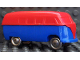 Part No: 258wpb11  Name: HO Scale, VW Window Van with Blue Base - Completely Colored Top