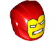 Part No: 28631pb03  Name: Minifigure, Headgear Helmet Armor Plates and Ear Protectors with Yellow Iron Man Mask with White Eyes and Teeth Pattern