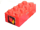 Part No: 3001oldpb07  Name: Brick 2 x 4 with Classic Fire Logo Pattern on Both Ends (Stickers) - Set 374-1