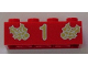 Part No: 3001pb042  Name: Brick 2 x 4 with Gold Holly and  '1' Pattern