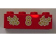 Part No: 3001pb049  Name: Brick 2 x 4 with Gold Holly and  '8' Pattern