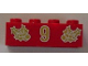 Part No: 3001pb050  Name: Brick 2 x 4 with Gold Holly and  '9' Pattern
