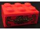 Part No: 3002pb17  Name: Brick 2 x 3 with 'Brads TOWING 730-108' Pattern (Sticker) - Set 8147
