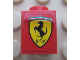 Part No: 3005pb025  Name: Brick 1 x 1 with Ferrari Logo Pattern (Sticker) - Set 8652