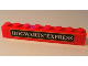 Part No: 3008pb044b  Name: Brick 1 x 8 with Black Hogwarts TM Express Pattern (Sticker) - Sets 4758 / 10132
