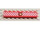 Part No: 3008px7  Name: Brick 1 x 8 with Fire Logo Badge and White Diagonal Stripes Pattern