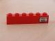 Part No: 3009pb071R  Name: Brick 1 x 6 with 'Paris - Roma' Right Pattern (Sticker) - Set 7740/7820