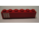 Part No: 3009pb099  Name: Brick 1 x 6 with 'ÖBB' (OBB) Pattern (Sticker) - Set 164