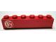 Part No: 3009pb106  Name: Brick 1 x 6 with 'SNCF' Pattern (Sticker) - Set 164