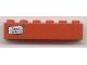 Part No: 3009pb131L  Name: Brick 1 x 6 with 'Basel - Hamburg' Pattern on Left Side (Sticker) - Set 7740/7820