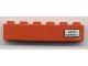 Part No: 3009pb131R  Name: Brick 1 x 6 with 'Basel - Hamburg' Pattern on Right Side (Sticker) - Set 7740/7820