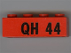 Part No: 3010pb034  Name: Brick 1 x 4 with Black 'QH 44' Pattern
