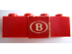 Part No: 3010pb087  Name: Brick 1 x 4 with 'B' Pattern (Sticker) - Set 164