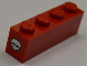 Part No: 3010pb143  Name: Brick 1 x 4 with White Skull on Red Background Pattern on Both Ends (Stickers) - Set 8186