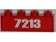 Part No: 3010pb155  Name: Brick 1 x 4 with White '7213' Pattern (Sticker) - Set 7213
