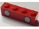 Part No: 3010pb244  Name: Brick 1 x 4 with 2 White Circles with Black Outline Pattern (Mickey Mouse Trouser Buttons)