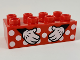 Part No: 3011pb054  Name: Duplo, Brick 2 x 4 with White Polka Dots and Minnie Mouse Hands Pattern