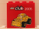 Part No: 30144pb024  Name: Brick 2 x 4 x 3 with LEGO Club 2005 and Bulldozer Pattern