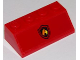 Part No: 3037pb042  Name: Slope 45 2 x 4 with Fire Logo on Red Background Pattern (Sticker) - Set 60111