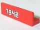 Part No: 30413pb017  Name: Panel 1 x 4 x 1 with White '7942' Pattern (Sticker) - Set 7942