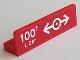 Part No: 30413pb048  Name: Panel 1 x 4 x 1 with White '100T', 'L 28S' and Train Logo Pattern (Sticker) - Set 60098