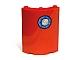 Part No: 30562pb014  Name: Cylinder Quarter 4 x 4 x 6 with Porthole Near Top Pattern (Sticker) - Set 4982