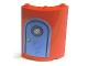 Part No: 30562pb018  Name: Cylinder Quarter 4 x 4 x 6 with Blue Door Pattern (Sticker) - Set 4982