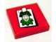 Part No: 3068bpb0299  Name: Tile 2 x 2 with Groove with Joker Playing Card Pattern (Sticker) - Set 7886