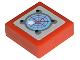 Part No: 3070bpb050  Name: Tile 1 x 1 with Light Blue Radar Pattern (Sticker) - Set 8060